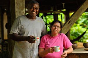 Farmer family Osa Peninsula - Host dad and host mum
