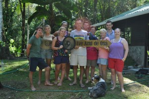 Ave Azul de La Osa with Volunteer Group