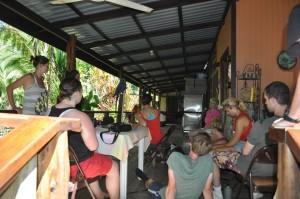 Volunteer Group watching Parrot Exercise